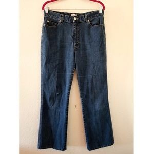 Calvin Klein Jeans High Rise Boot Cut Jeans